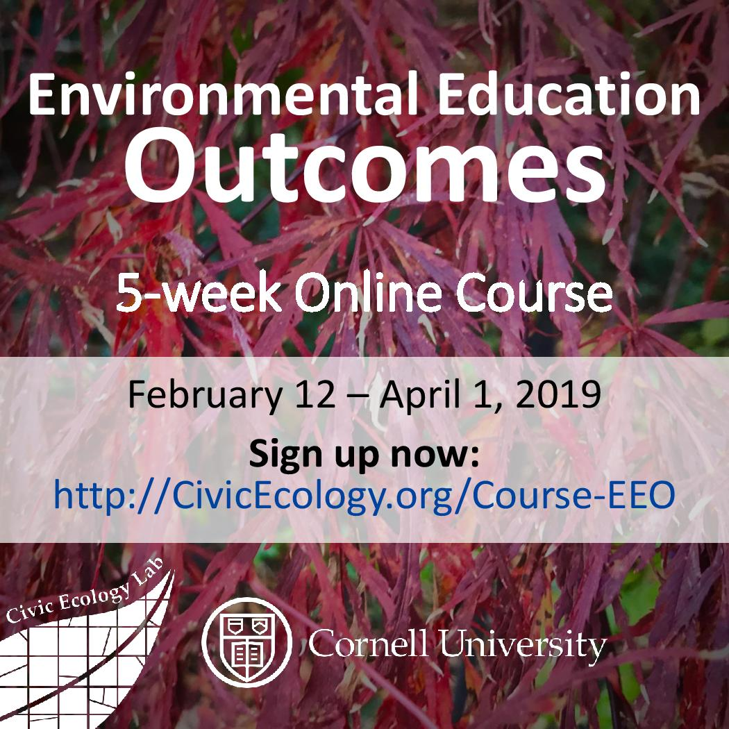 Environmental Education Outcomes Online Course